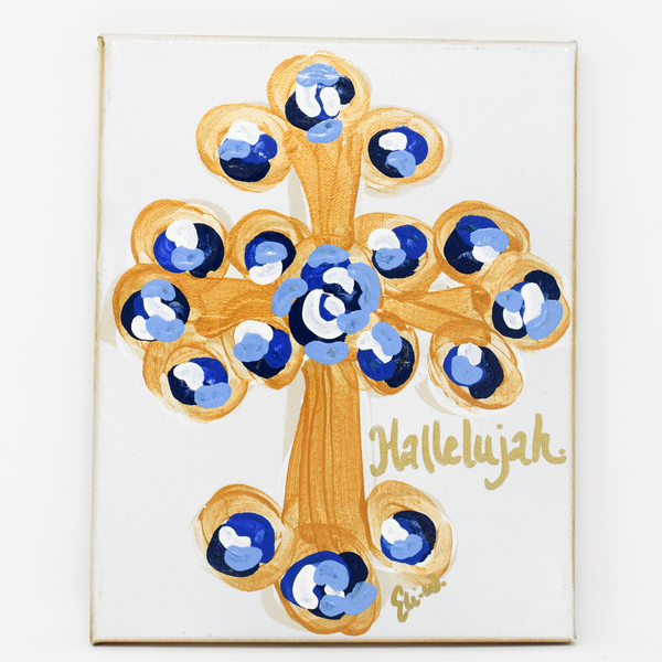 Hallelujah Cross Canvas