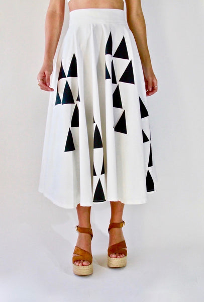 Iris Skirt | Black & White