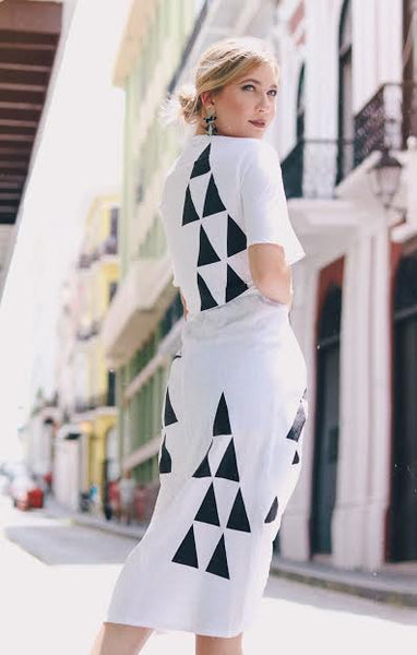 Iris Dress | Black & White