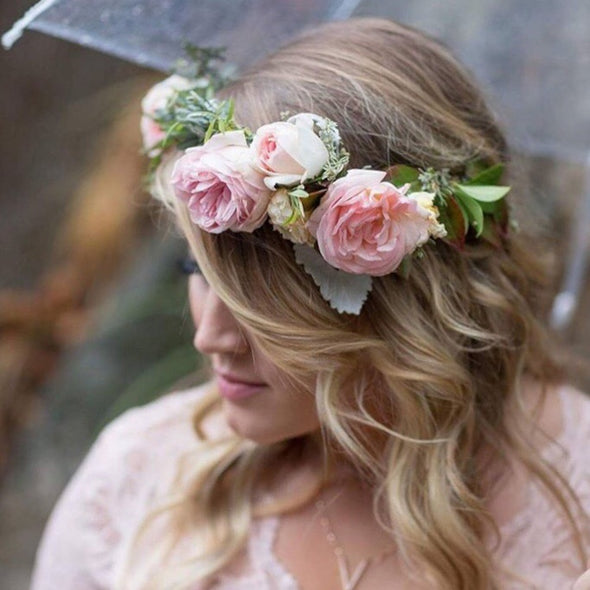 Garden Style Wedding Floral Crown Add-on