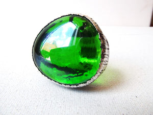 green glass ring