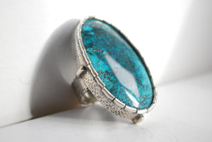 over-sized turquoise ring