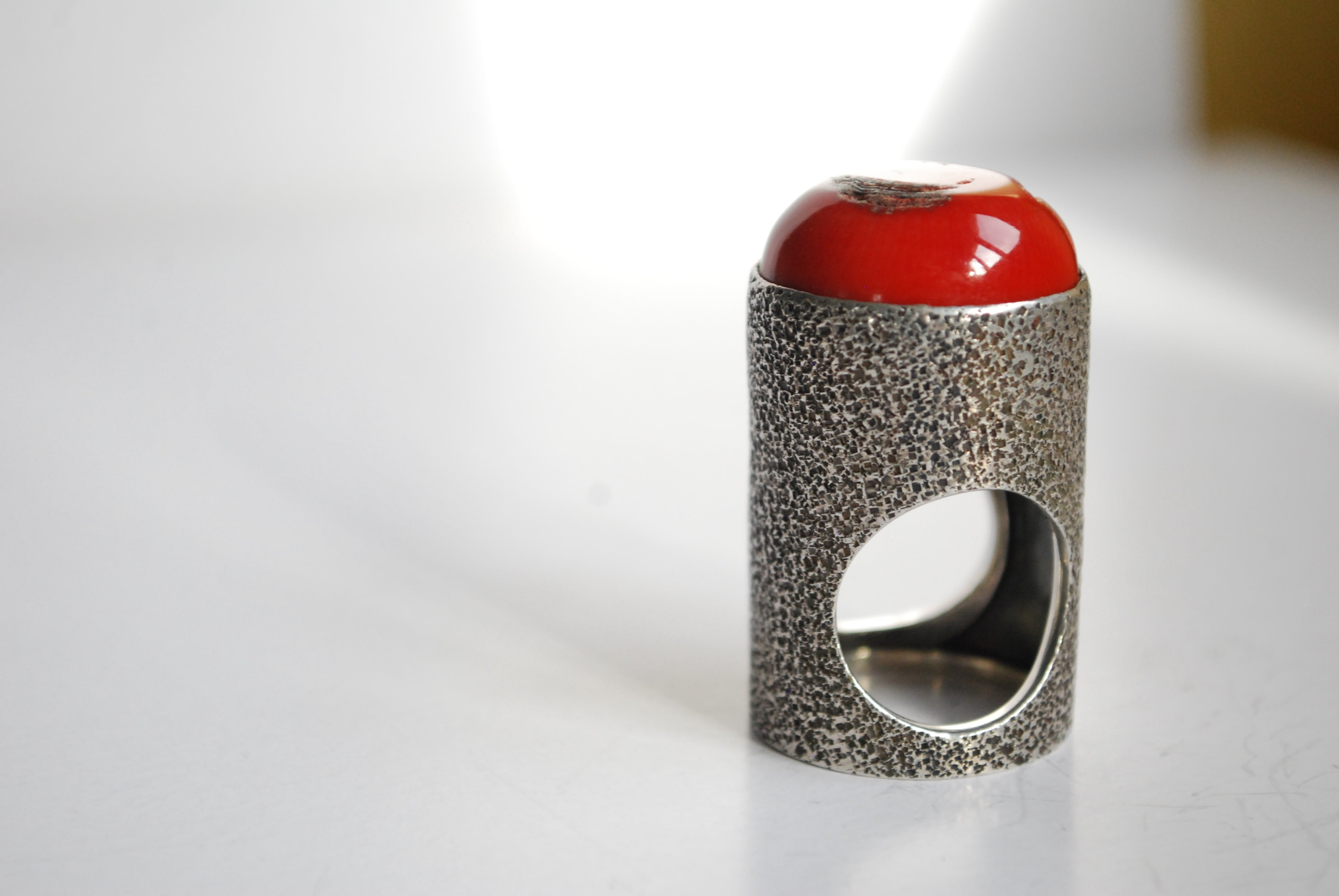 coral tube ring