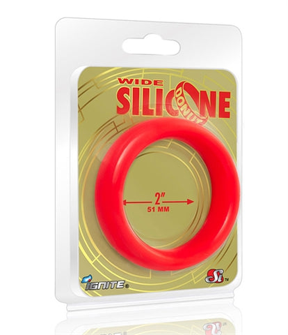 Wide Silicone Donut - Red - 2-Inch Diameter SI-95138