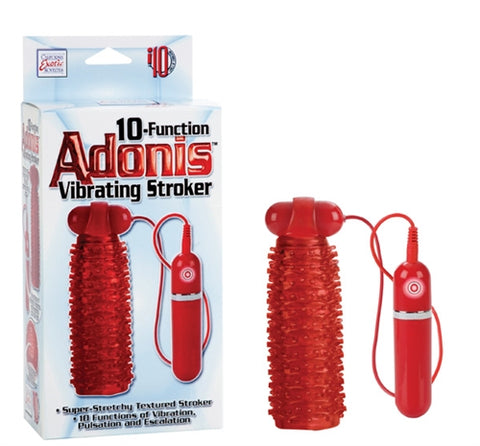 10-Function Adonis Vibrating Stokers - Red SE0970103