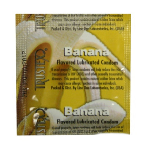 Trustex Flavored Lubricated Condoms - 3 Pack - Banana AL-4025