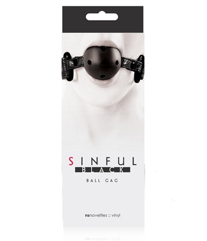 Sinful - Ball Gag - Black NSN1221-13