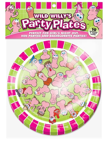 Wild Willys Party Plates - 10 Count BC-PP09