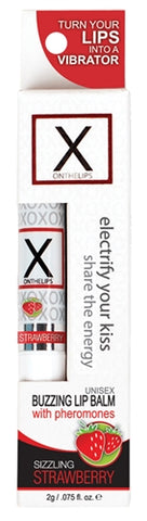 X on the Lips Lip Balm - Sizzling Strawberry - .75 Oz. SEN-VL202