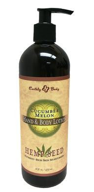 Cucumber Melon Hemp Seed Hand  and Body Lotion - 16 Oz.