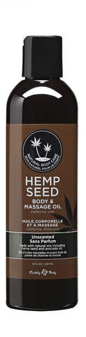 Unscented Hemp Seed Body And Massage Oil- 8 oz.