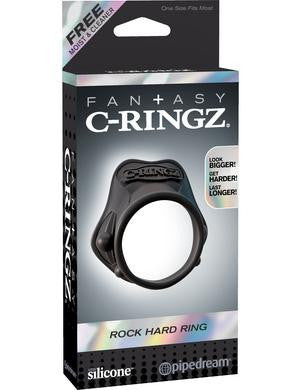 Fantasy C-ringz Rock Hard Ring - Black