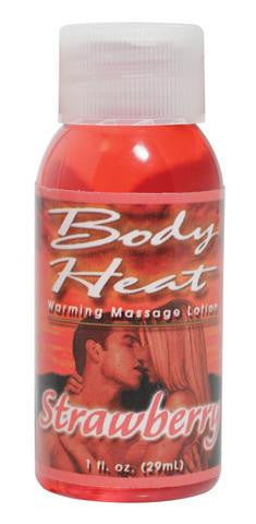 Body Heat Warming Massage Lotion Strawberry - 1 oz.