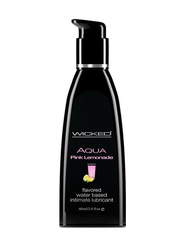 Aqua Pink Lemonade Flavored Water Based  Lubricant - 2 Oz. / 60 ml WS-90372