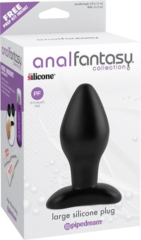 Anal Fantasy Collection Large Silicone Plug - Black PD4604-23