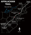 Appalachian Trail Map Tees Long Sleeve T-Shirt