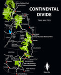 Continental Divide Trail Map Tees Unisex Sweatshirt