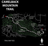 Camelback Mountain Trail Map Tees Unisex Tank Top