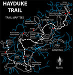 Hayduke Trail Map Tees Unisex Sweatshirt