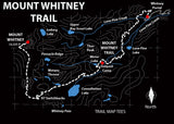Mount Whitney Trail Map Tees Unisex Sweatshirt