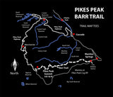 Pikes Peak Barr Trail Map Tees Unisex Long Sleeve Shirt