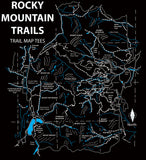 Rocky Mountain Trail Map Tees Short-Sleeve Unisex Shirt