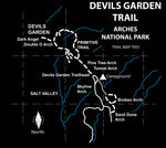 Devils Garden (Arches NP) Trail Map Tees Unisex Tank Top