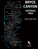 Bryce Canyon National Park Trail Map Tees Short-Sleeve Unisex Shirt