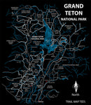 Grand Teton National Park Trail Map Tees Unisex Tank Top
