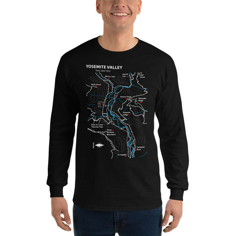 Yosemite National Park Trail Map Tees Long Sleeve T-Shirt