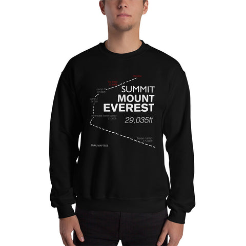 Mount Everest Summit Trail Map Tees Unisex Sweatshirt