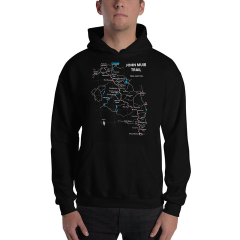 John Muir Trail Map Tees Unisex Hooded Sweatshirt