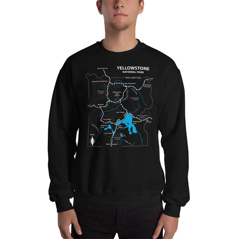Yellowstone National Park Trail Map Tees Unisex Sweatshirt