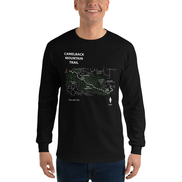 efbae53b Camelback Mountain Trail Map Tees Unisex Long Sleeve Shirt
