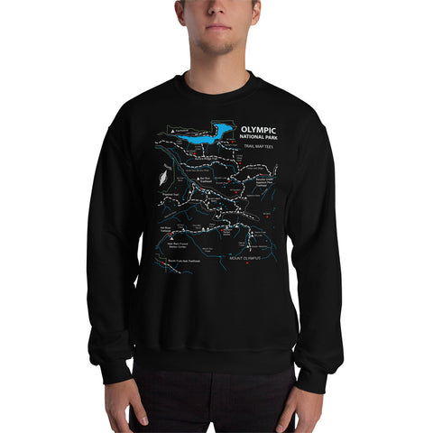 Olympic National Park Trail Map Tees Unisex Sweatshirt