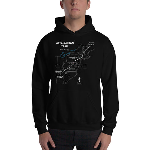 Appalachian Trail Map Tees Unisex Hooded Sweatshirt