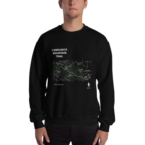Camelback Mountain Trail Map Tees Unisex Sweatshirt