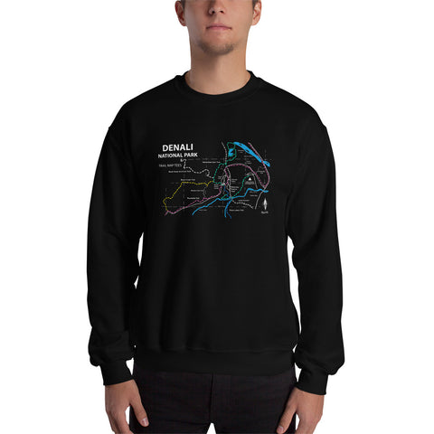 Denali National Park Trail Map Tees Unisex Sweatshirt