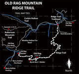 Old Rag Mountain Ridge Trail Map Tees Long Sleeve Shirt