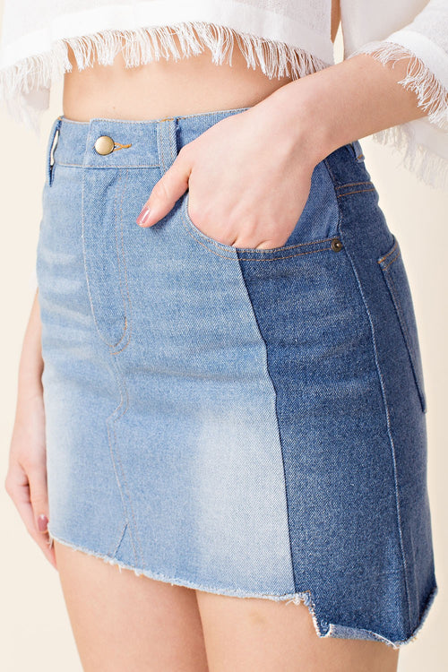 Walk This Way Denim Skirt