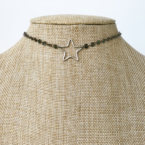 Star Lovers Choker | Gunmetal