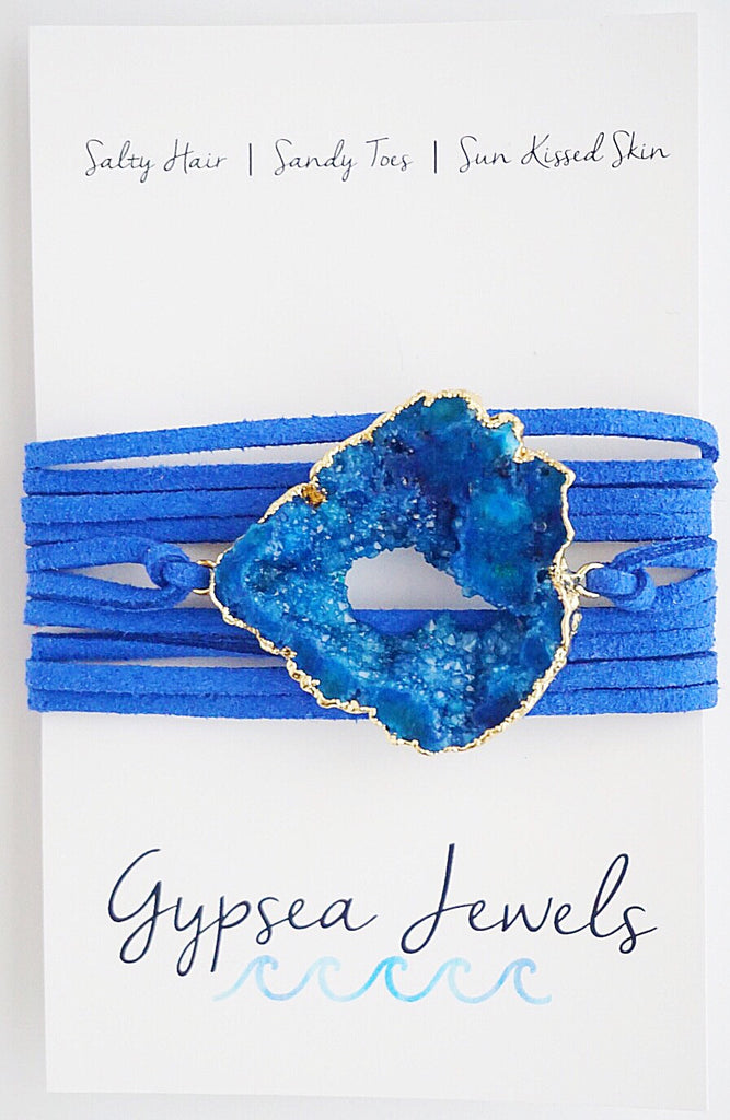 Blue On Blue Wrap Bracelet