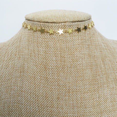 Star Girl Choker | Gold