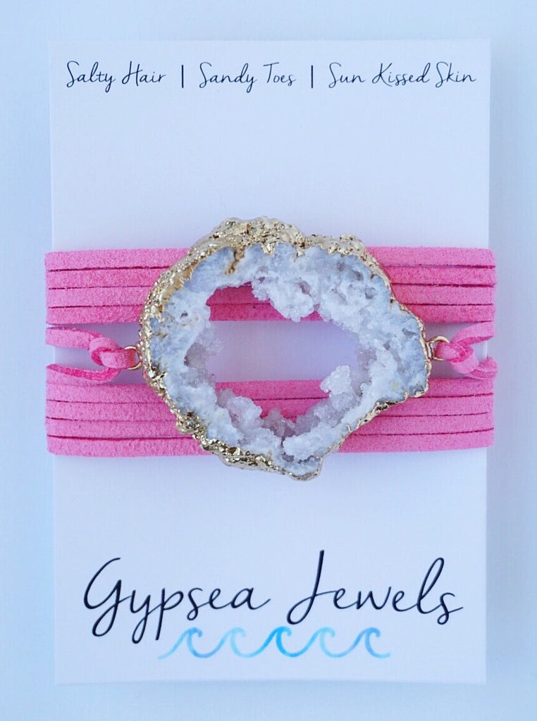 White On Taffy Wrap Bracelet