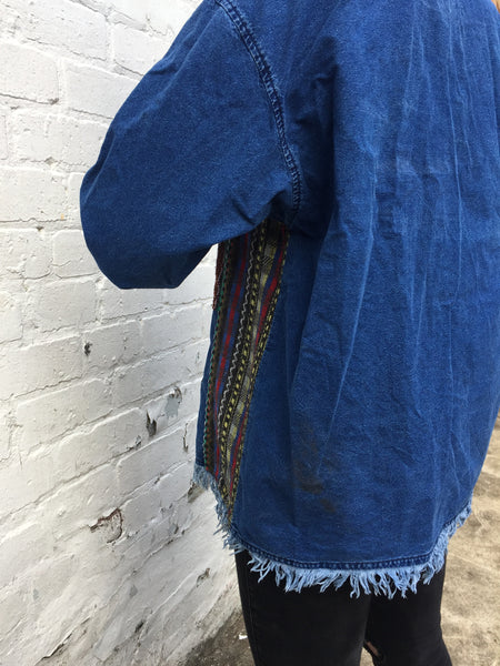 Vintage Colourful Soft Denim Hoodie