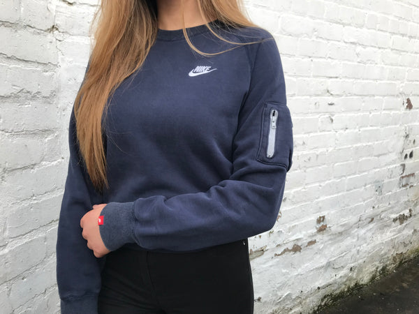 Vintage Nike Unisex Jumper Navy Sweater
