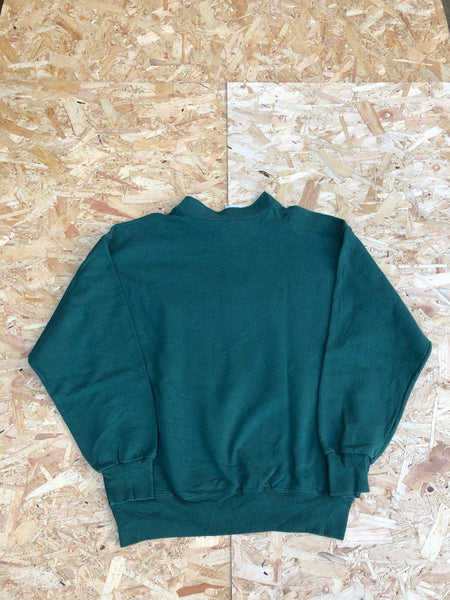 Vintage USA Graphic Print Unisex Sweatshirt / Jumper / Sweater Green