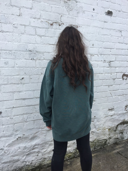 Vintage Green Oversized Baggy Jumper/Sweatshirt/Sweater
