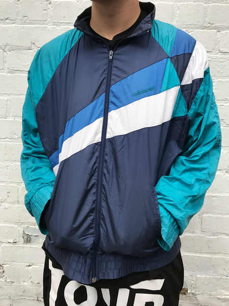 Vintage Adidas Originals Unisex Windbreaker Shell Jacket Blue
