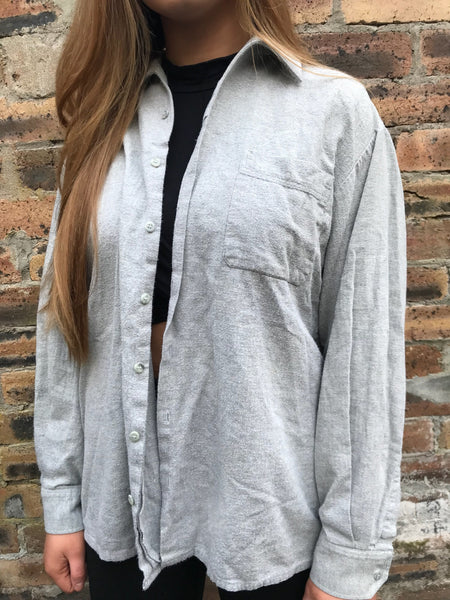 Vintage Unisex Oversized Plain Grey Shirt